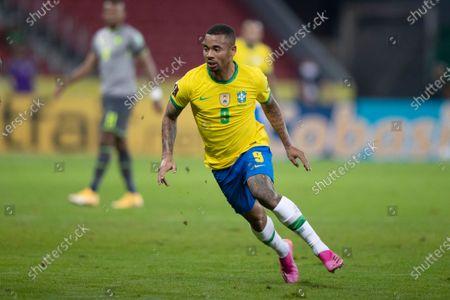 Gabriel Jesus of Brazil; Beira-Rio Stadium, Porto Alegre, Brazil; World Cup 2022 qualifiers; Brazil versus Ecuador.