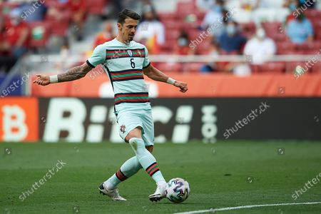 Jose Fonte (LOSC Lille) of Portugal does passed during the international friendly match between Spain and Portugal at Estadio Wanda Metropolitano on June 4, 2021 in Madrid, Spain.