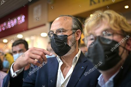 Editorial photo of Edouard Philippe visit to Tours, France - 04 Jun 2021