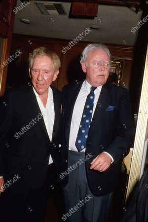 Stock Image of (L-R) Actors Burgess Meredith and Carroll O'Connor.
