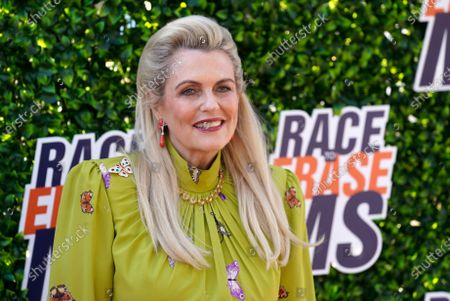 Nancy Davis poses at the Race to Erase MS drive-in event at the Rose Bowl, in Pasadena, Calif
