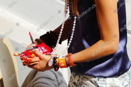 Jelena Djokovic leaves with her chocolate
