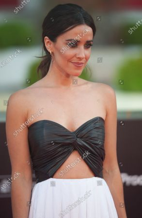 Stock Picture of Spanish actress, Macarena Garcia poses for photographers at the red carpet inside Miramar Hotel.