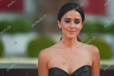 Spanish actress, Macarena Garcia poses for photographers at the red carpet inside Miramar Hotel.
