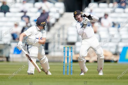 Stock Image of Gary Balance of Yorkshire get out to the bowling of Jack Carson caught by Ben Brown