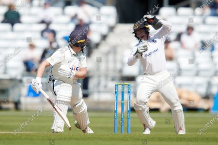 Stock Photo of Gary Balance of Yorkshire get out to the bowling of Jack Carson caught by Ben Brown