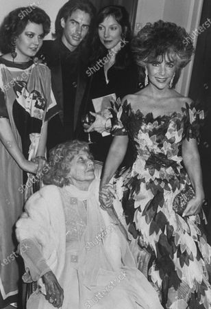 Actress Elizabeth Taylor w. her daughter Maria Burton Carson (L), son Michael Wilding Jr., his wife Brooke Palance Taylor and Taylor's mother Sara (1896 - 1994) at a tribute to Liz at Lincoln Center.