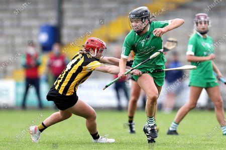 Stock Photo of Kilkenny vs Limerick. Limerick's Niamh Ryan and Katie Nolan of Kilkenny