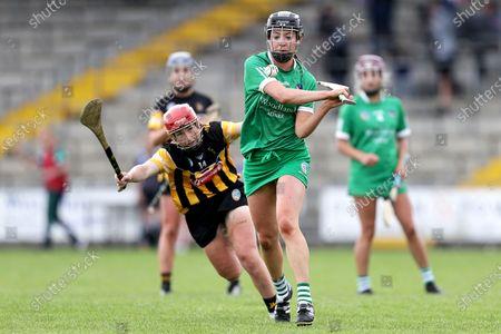 Stock Image of Kilkenny vs Limerick. Limerick's Niamh Ryan and Katie Nolan of Kilkenny