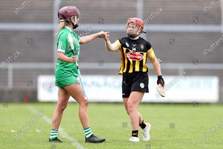 Kilkenny vs Limerick. Limerick's Roisin Ambrose shakes hands with Katie Nolan of Kilkenny