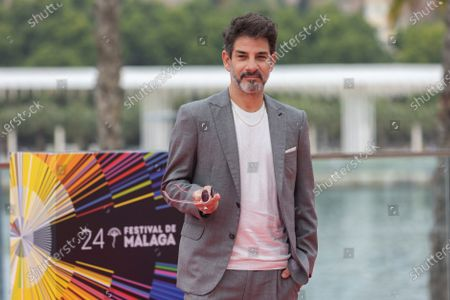 Stock Picture of Miguel Rodarte poses for the photographers during the presentation of the film 'Amalgama', at the 24th Malaga Film Festival in Malaga, Spain, 05 June 2021. The festival runs until 13 June 2021.