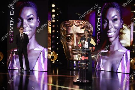 Leading Actress - Michaela Coel - I May Destroy You with presenter David Morrissey