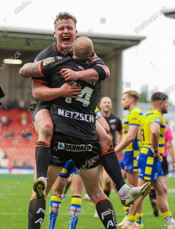 Editorial picture of Castleford Tigers v Warrington Wolves. Leigh, UK - 05 Jun 2021