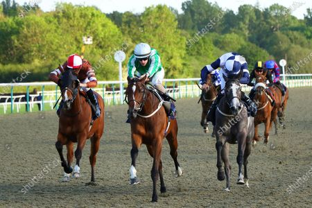 ELLADE (centre) ridden by Richard Kingscote beating Profound Alexander (right) & Amber Dew inThe Witheford Barrier Trials 22nd June Fillies' Novice Stakes at Lingfield Park Copyright: Ian Headington/racingfotos.com