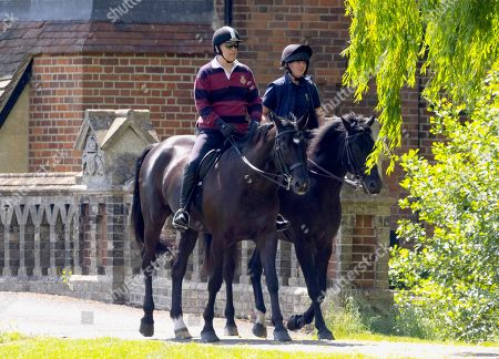 Prince Andrew out for an Early Morning ride at Windsor