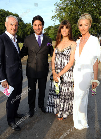 Anton Bilton, Giorgio Veroni, Lisa B and Tamara Beckwith