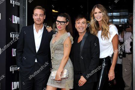 Charley Speed, Grace Woodward, Julien Macdonald and Elle Macpherson