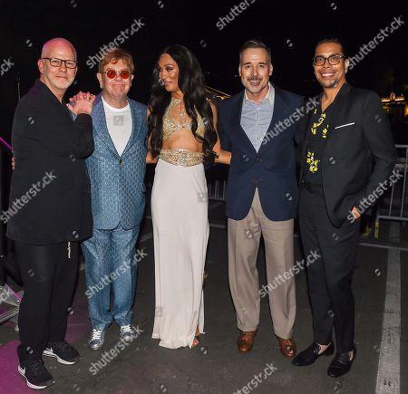 Ryan Murphy, Elton John, MJ Rodriguez, David Furnish,Steven Canals