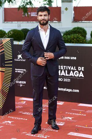 Maxi Iglesias attends the Day 3, 24th Malaga Film Festival Red Carpet at Miramar Hotel in Malaga, Spain, on June 5, 2021.