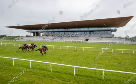 """Some of the leading contenders for this year's Dubai Duty Free Irish Derby exercised on the famous Curragh race track over the weekend as part of their preparation for the €1 million show piece, which takes place on Saturday 26th June. Aidan O'Brien was represented by High Definition, who landed the Group 2 Alan Smurfit Memorial Beresford Stakes as a two year old. The son of Galileo looked in very good order as he worked over 10 furlongs with Wayne Lordan in the saddle. Other Dubai Duty Free Irish Derby entries working on the track included the Joseph O'Brien trained Thunder Moon (Declan McDonagh) and Toshizou (Shane Crosse), while the Luke Comer trained pair of Seattle Creek and Seattle Sound were both put through their paces. Pat Keogh, Chief Executive of The Curragh, commented, """"The build up to the Dubai Duty Free Irish Derby has well and truly started and with the support of Dubai Duty Free, we were delighted to have the opportunity to invite all trainers with entries in the race to use the track over the weekend."""". The Dubai Duty Free Irish Derby Festival takes place from Friday 25th to Sunday 27th June with Saturday featuring the Dubai Duty Free Irish Derby at 3.45pm"""