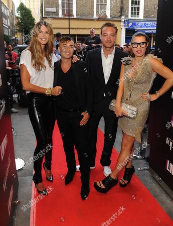 Elle Macpherson, Julien Macdonald, Charley Speed and Grace Woodward