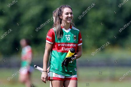 Stock Image of Westmeath vs Mayo. Mayo's Niamh Kelly celebrates after the game