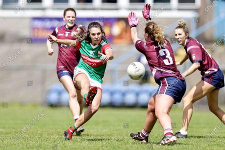 Westmeath vs Mayo. Mayo's Niamh Kelly and Jennifer Rogers of Westmeath