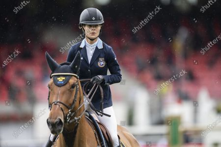 Malin Baryard-Johnsson from Sweden on H&M Indiana during the Longines FEI Jumping Nations Cup of Switzerland at the CSIO Show Jumping in St. Gallen, Switzerland, 06 June 2021.