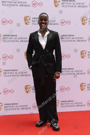 Stock Photo of Ncuti Gatwa poses for photographers upon arrival for the British Academy Television Awards in London