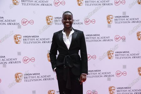 Ncuti Gatwa poses for photographers upon arrival for the British Academy Television Awards in London