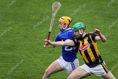 Stock Image of Kilkenny vs Laois. Kilkenny's Tommy Walsh and Ciaran Comerford of Laois