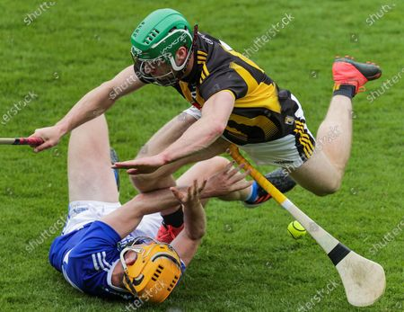 Kilkenny vs Laois. Kilkenny's Tommy Walsh and Ciaran Comerford of Laois