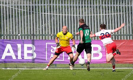 Fulham Irish vs Tir Chonaill Gaels. Fulham Irish captain Michael Murphy scores the winning goal
