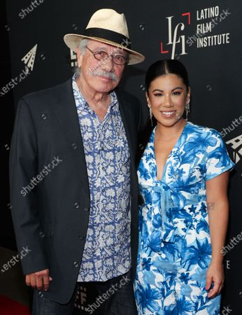 Edward James Olmos and Chrissie Fit