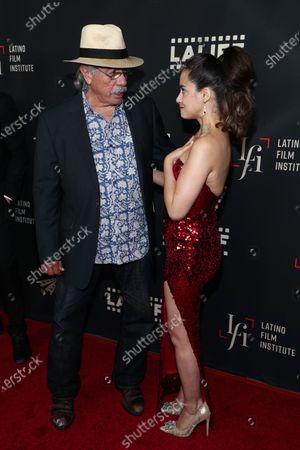 Edward James Olmos and Lissette Feliciano