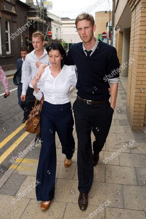 Stock Image of Calum Davenport and wife Zoe