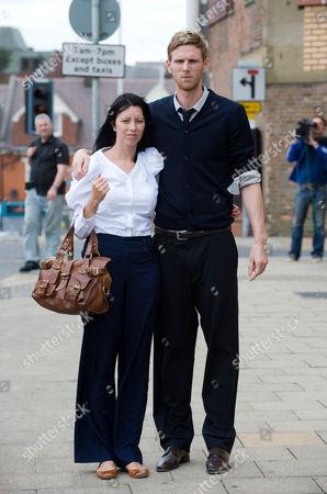 Stock Photo of Calum Davenport and wife Zoe
