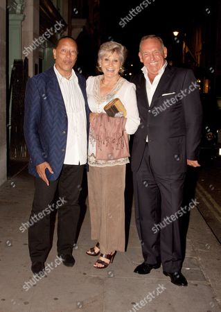 Peter Straker with Angela Rippon and guest