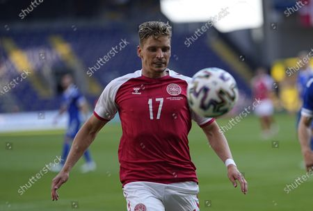 Denmark's Jens Stryger Larsen    during the friendly pre Euro 2021 match between Denmark and Bosnia and Herzegovina at Broendby Stadium, Copenhagen, Denmark on June 6, 2021.