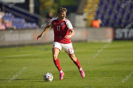 Denmarkâ€s Jens Stryger Larsen during Denmark against Bosnia and Herzegovina on Broendby Stadium, Copenhagen, Denmark