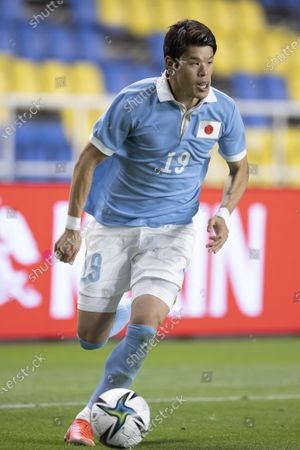 Stock Image of Hiroki Sakai (JPN) - Football / Soccer : International Friendly Match between U-24 Japan 6-0 U-24 Ghana at Best Denki Stadium, Fukuoka, Japan.