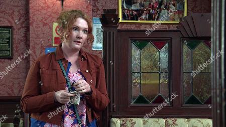 Coronation Street - Ep 10347 Wednesday 9th June 2021 - 2nd Ep Reading a message from the bank, a riled Fiz Stape, as played by Jennie McAlpine, approaches Adam Barlow, revealing she needs his help.