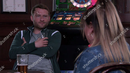 Stock Image of Coronation Street - Ep 10354 & Ep 10355 Sunday 20th June 2021 Bernie Winter, as played by Jane Hazlegrove, and Paul Foreman, as played by Peter Ash, put pressure on Gemma Winter, as played by Dolly-Rose Campbell, to allow Aled his operation.