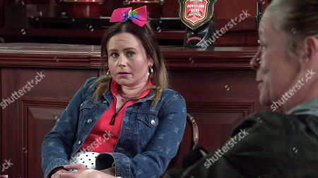 Coronation Street - Ep 10354 & Ep 10355 Sunday 20th June 2021 Bernie Winter, as played by Jane Hazlegrove, and Paul Foreman put pressure on Gemma Winter, as played by Dolly-Rose Campbell, to allow Aled his operation.