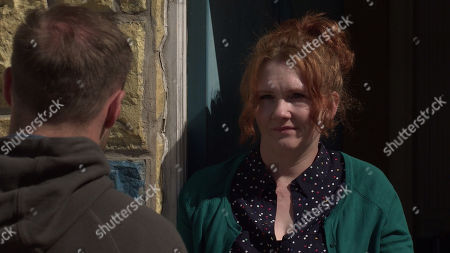 Coronation Street - Ep 10348 & Ep 10349 Friday 11th June 2021  An incensed Tyrone Dobbs, as played by Alan Halsall, confronts Fiz stape, as played by Jennie McAlpine, accusing her of trying to have him arrested in a bid to bolster her chances of custody.