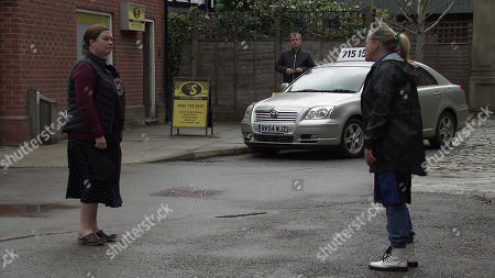 Coronation Street - Ep 10348 & Ep 10349 Friday 11th June 2021  Mary Taylor, as played by Patti Clare, tears a strip off Bernie Winter, as played by Jane Hazlegrove, for taking advantage of Dev.