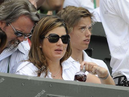 Wimbledon Tennis Championships 2009 29/06/09Robin Soderling V Roger Federer Roger Federer Wife Today Mirka Federer / Miroslava Vavrinec