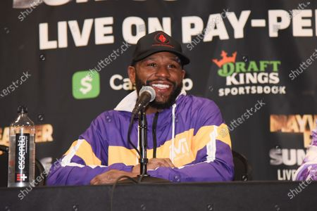 Floyd Mayweather Jr v Logan Paul fight, Press Conference, Hard Rock Stadium, Miami