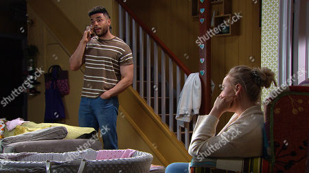 Emmerdale - Ep 9078 & Ep 9079 Monday 21st June 2021 As Nate Robinson, as played by Jurell Carter, books Lydia in for some childcare tomorrow to cover Tracy Metcalfe's, as played by Amy Walsh, return to work, Tracy tries her best to sound positive. Left alone, we see how she's struggling, clearly freaking out about leaving Frankie.