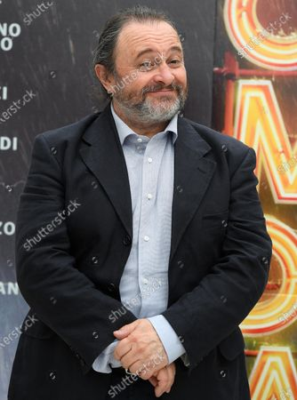 Natalino Balasso poses during a photocall for the movie 'Comedians' in Rome, Italy, 07 June 2021. The movie opens in Italian theaters on 10 June.
